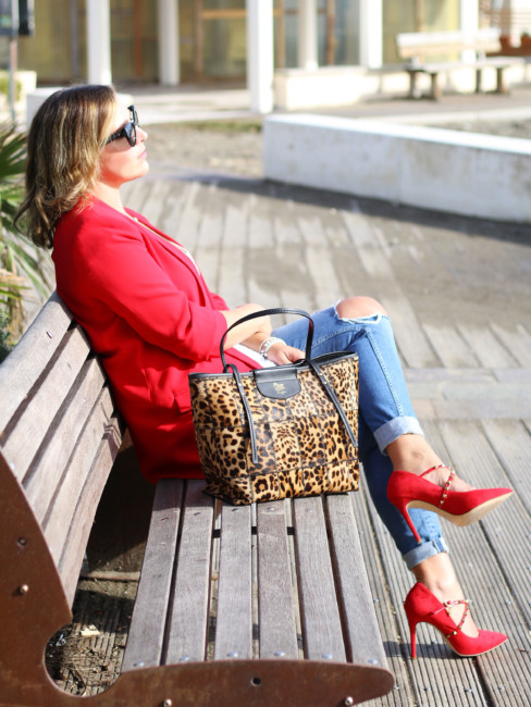 Animalier bag outfit.