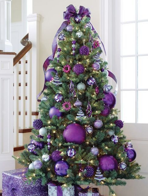 Purple Christmas tree.