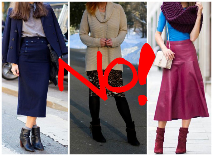 How to NOT wear the ankle boots.