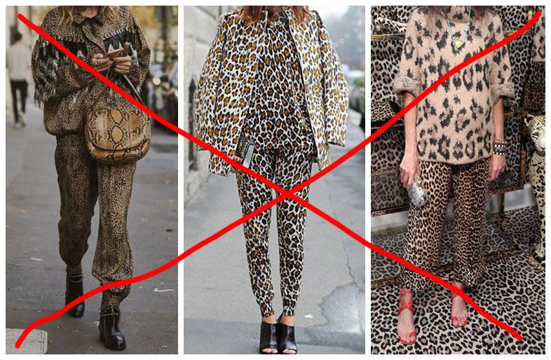How not to wear the animalier.