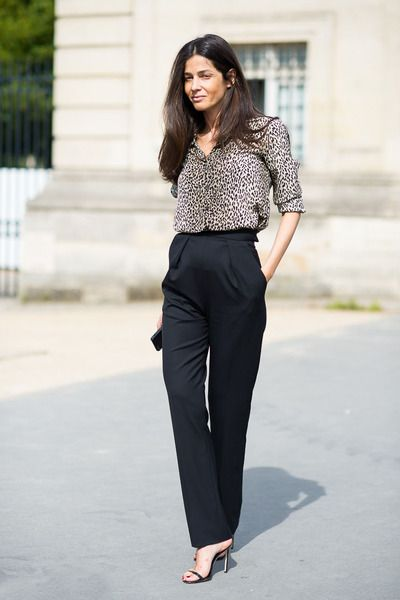 Animalier shirt outfit.