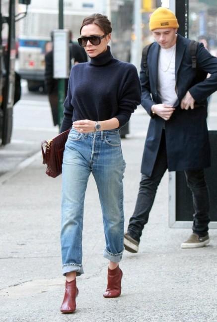 come indossare i tronchetti con i jeans.