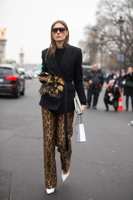 Animalier chic outfit.