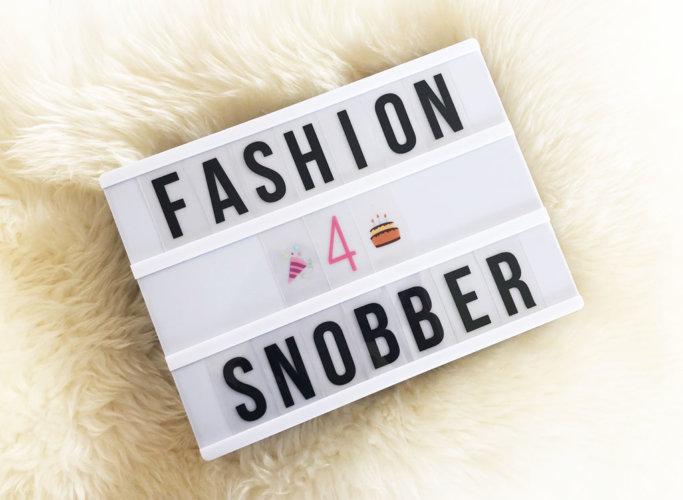 Quarto anno di Fashion Snobber - Fourth year of Fashion Snobber.