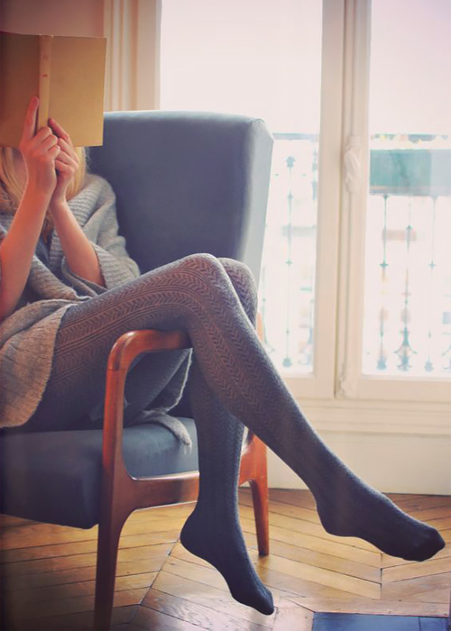Fancy tights.