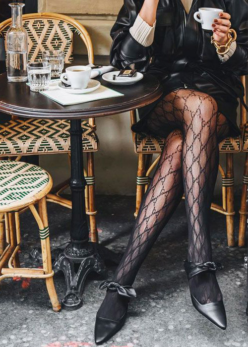 How to wear fancy sheer tights.