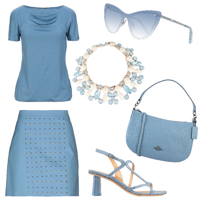 Casual outfit spring summer 2020 seasonal color.