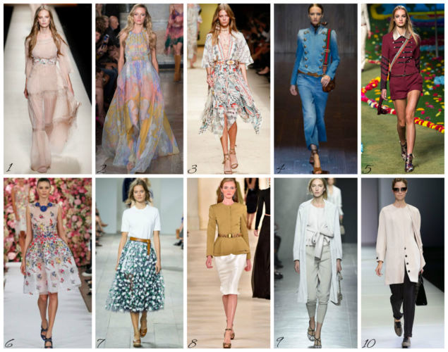Top Ten sfilate di moda primavera estate - Top Ten spring summer 2015 fashion show.