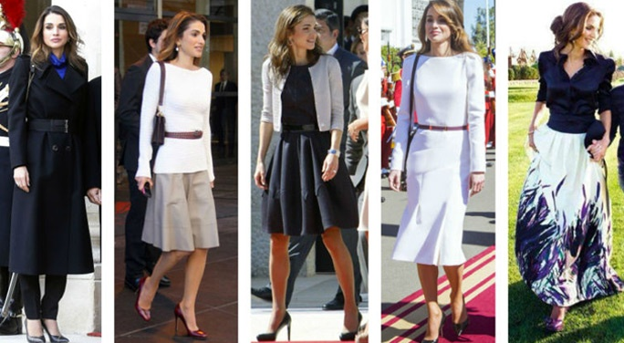 Rania di Giordania style.