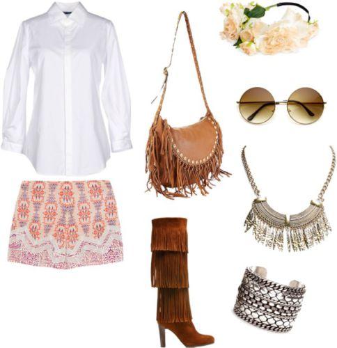 Come indossare una camicia bianca in tanti stili diversi: boho chic.
