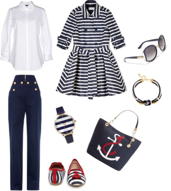 Outfit navy style camicia bianca.