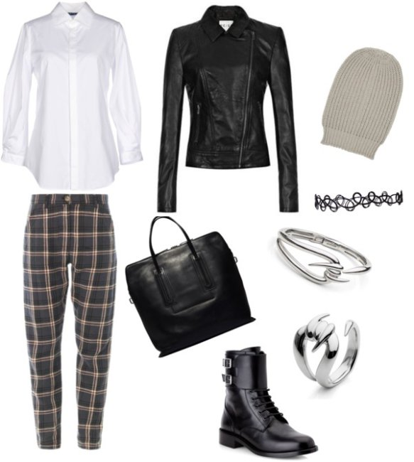 Outfit stile grunge.