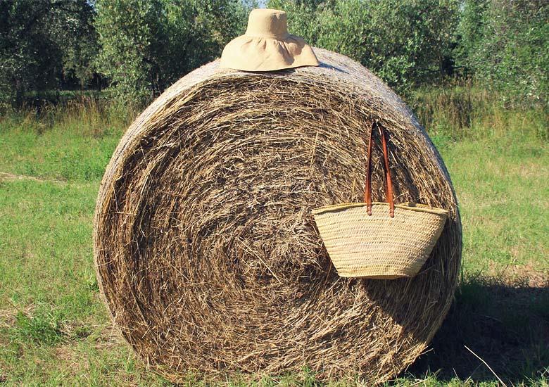Balla di fieno e dettagli bucolici - Hay bale and bucolic details.