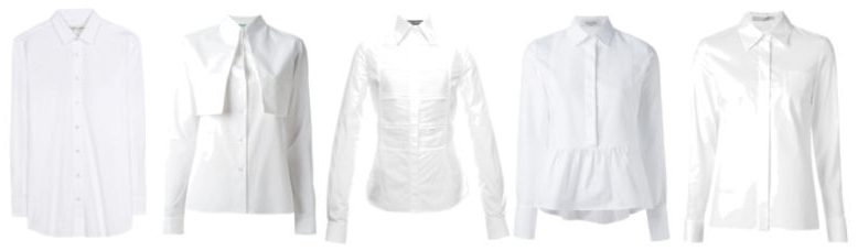 Indispensable clothing white shirt.