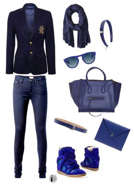 Classic Blue seasonal colors outfit.