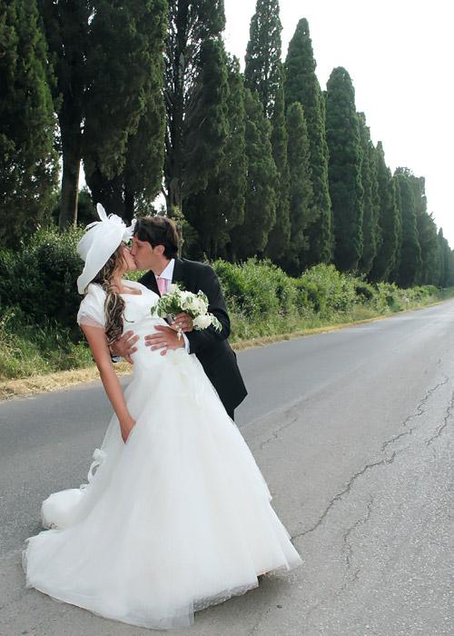 Foto di matrimonio a Bolgheri.