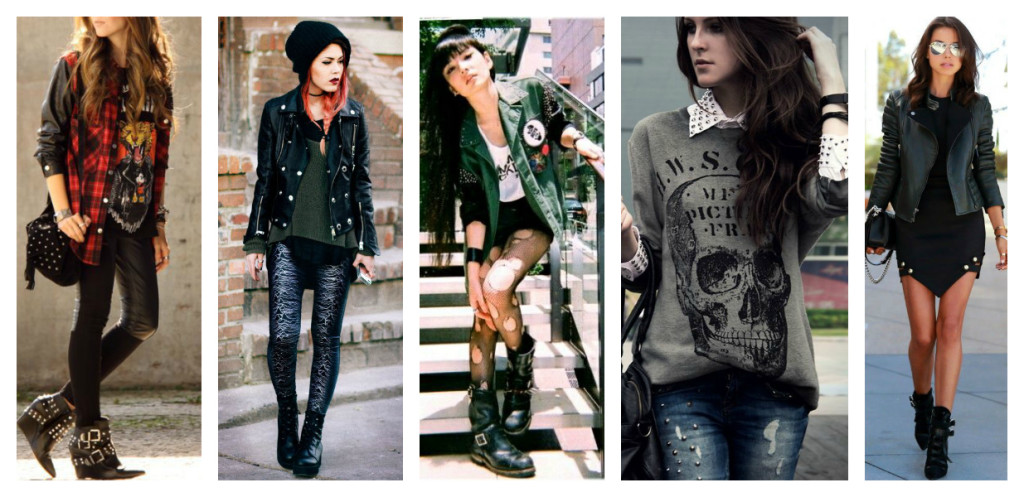 Punk and Rock fashion styles.