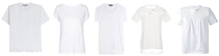 Capi indispensabili maglietta bianca.