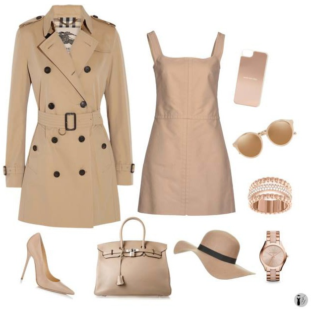 Colori di tendenza Toasted Almond outfit.
