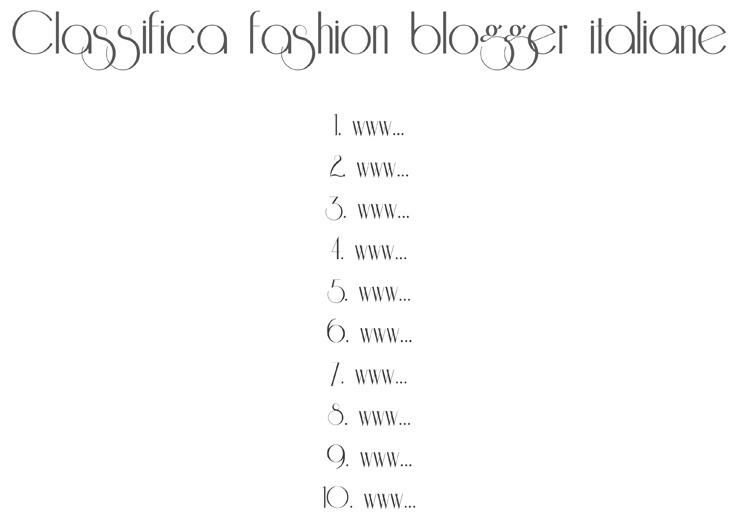 Classifica fashion blogger.