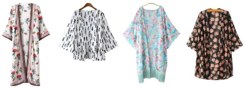 Kimoni moda donna Zaful.