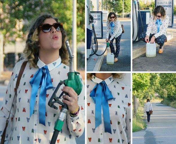 Preppy style outfit to make gasoline.
