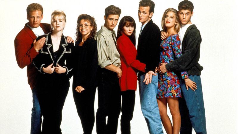 Telefilm di moda Beverly Hills 90210 1990-2000.