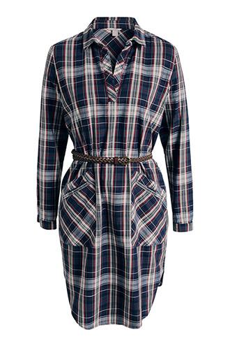 Esprit casual chemisier dress with belt.