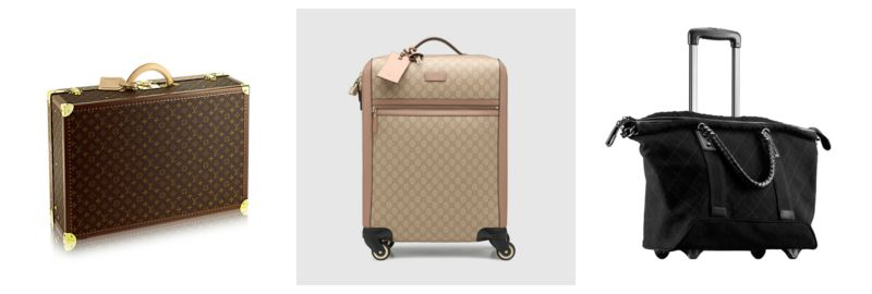 Suitcase indispensable bags.
