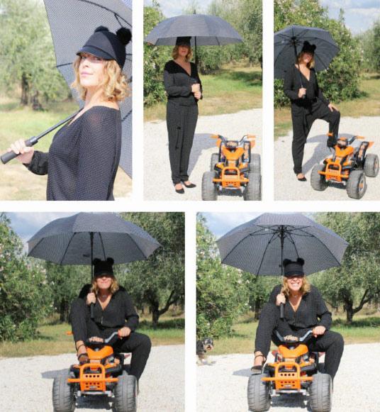Ragazza ombrellina (Grid girl) per un giorno.