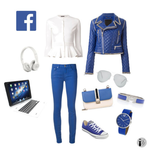 Facebook social network outfit idea.