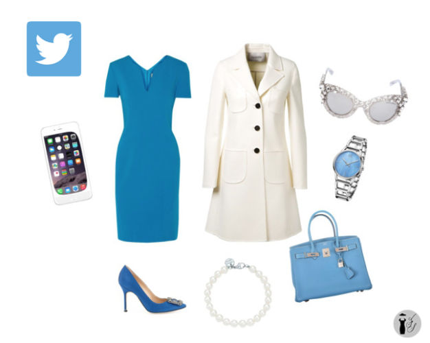 Twitter social network outfit idea.