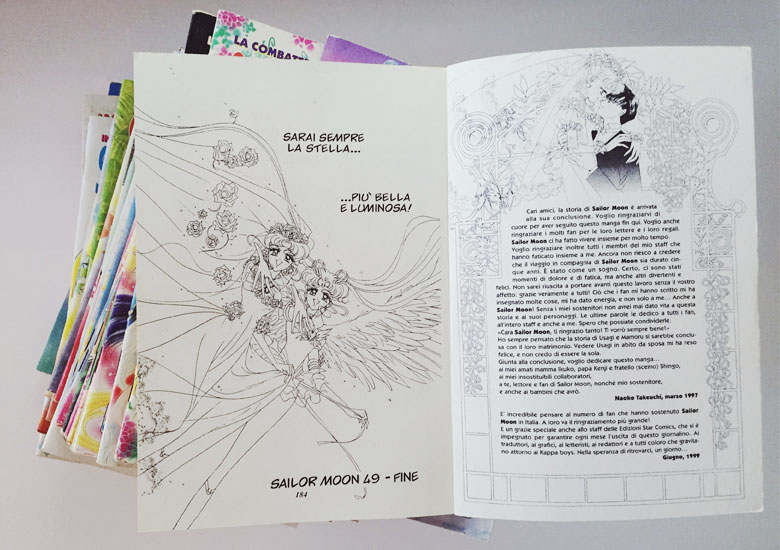 Ultimo numero fumetto originale Sailor Moon anni 90.