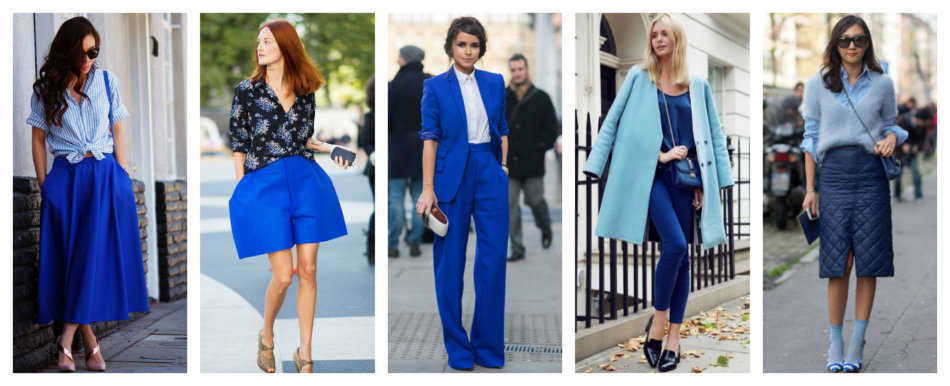 How to wear and match colors blue and light blue.