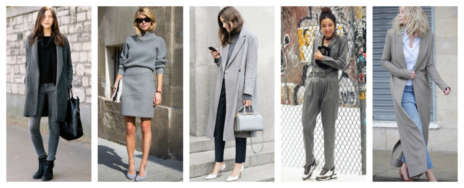 How to wear gray color.