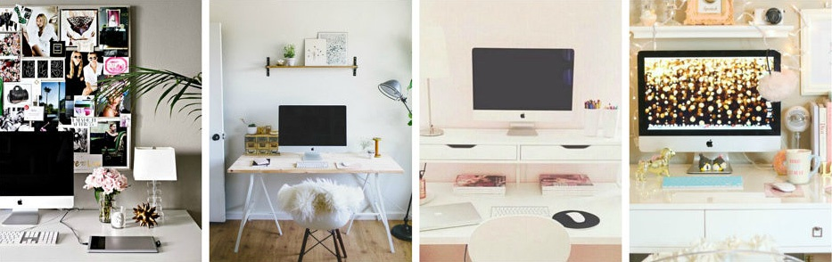 Fashion blog office ideas.