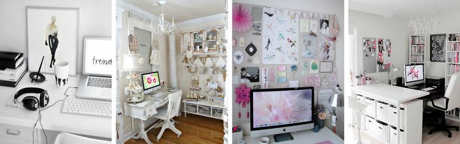 Fashion blogger office ideas.