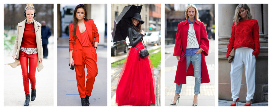 How to wear red color.