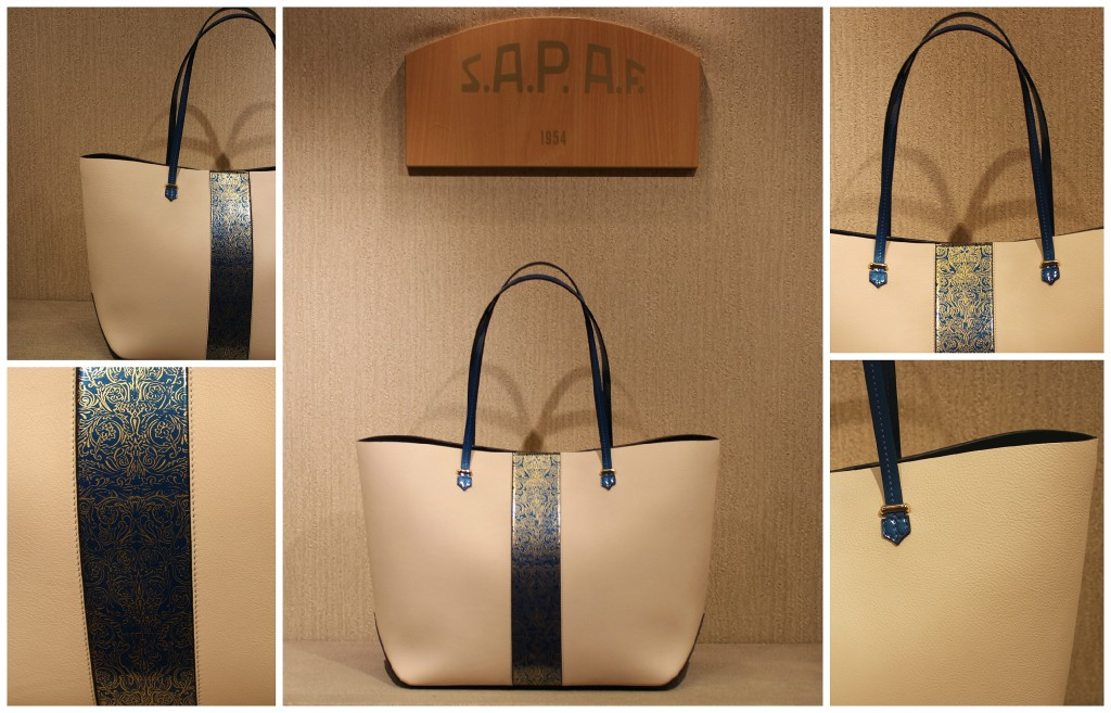 Luxury shopper bag by Sapaf.