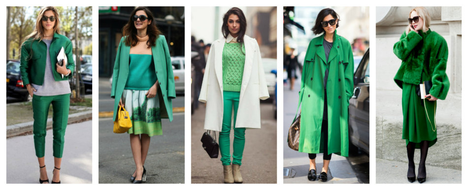 How to wear and match colors green and light green.