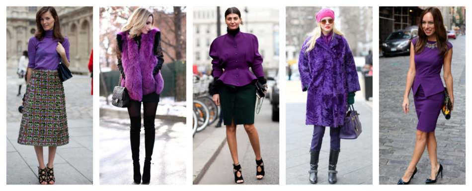 How to wear purple color.