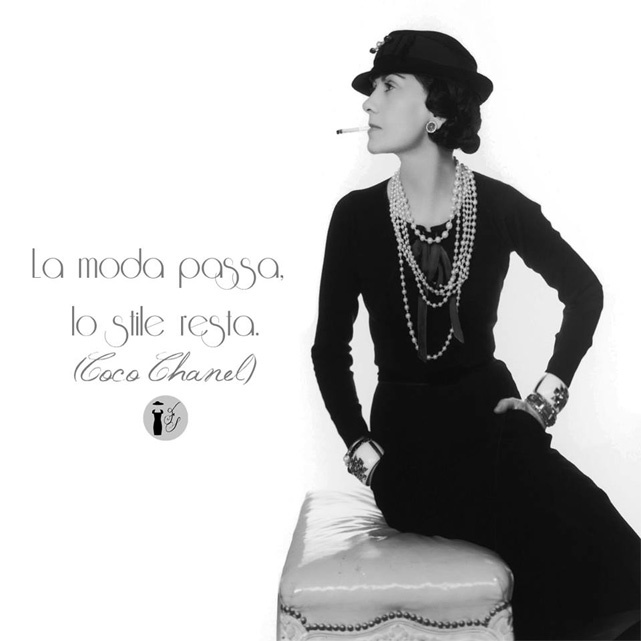 Frase celebre Coco Chanel.