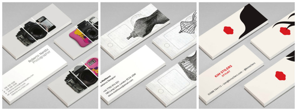Personalized business cards.