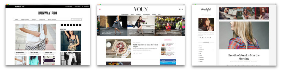 Fashion professional blog template.