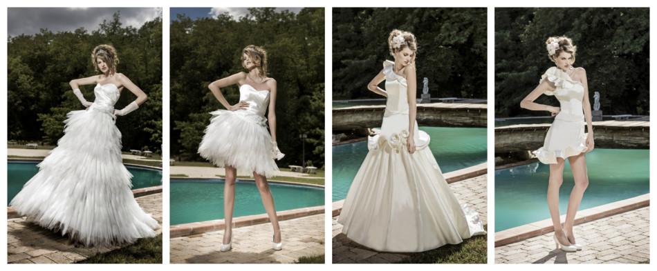 Abiti da sposa dual dress.