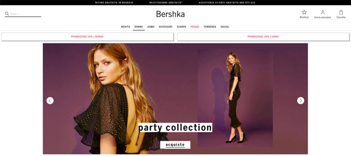 Fashion brand low cost Bershka.