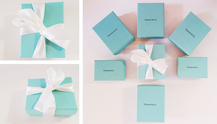 Come riconoscere packaging originale gioielli Tiffany & Co.