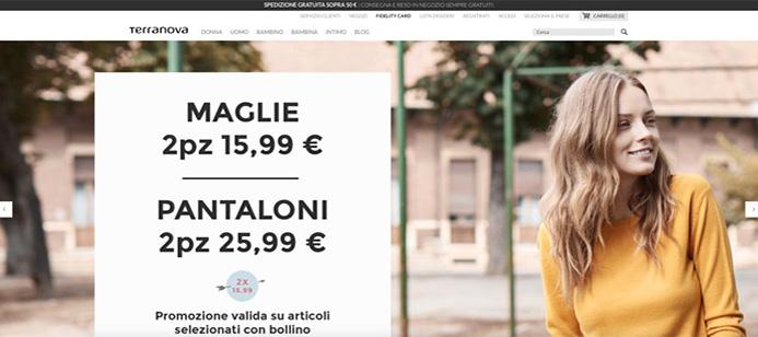 Brand di moda a basso costo italiano.