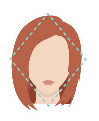 Diamond shape face.
