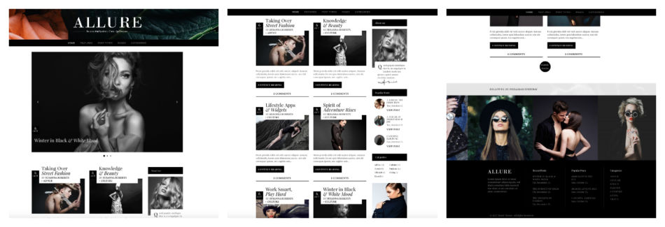 Migliore template per blog di moda.